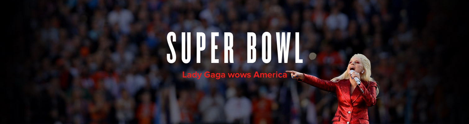 Lady Gaga sings national anthem