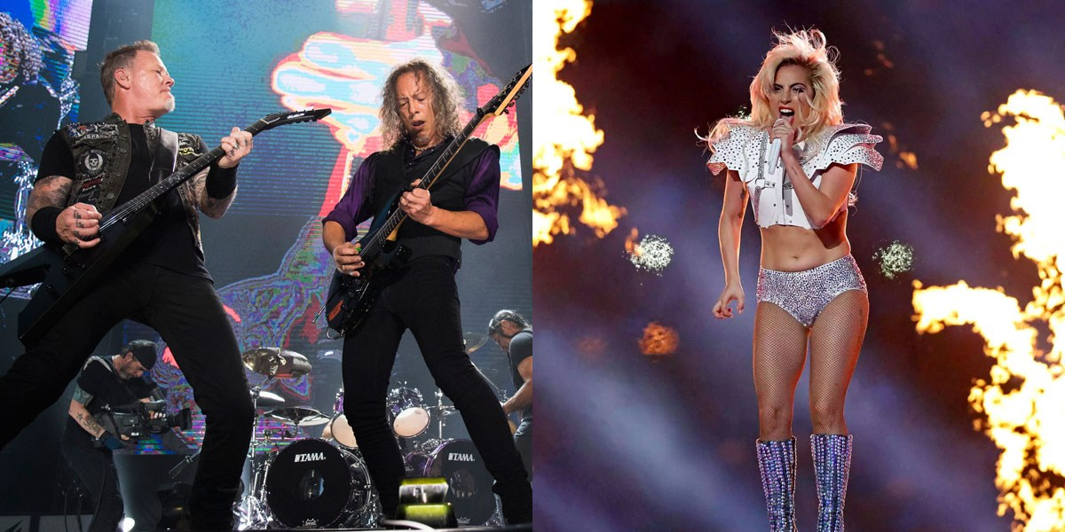 Lady Gaga Performing With Metallica At 2017 Grammy Awards